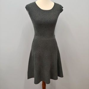 Mossimo Knit Fit & Flare Dress, Gray Size …